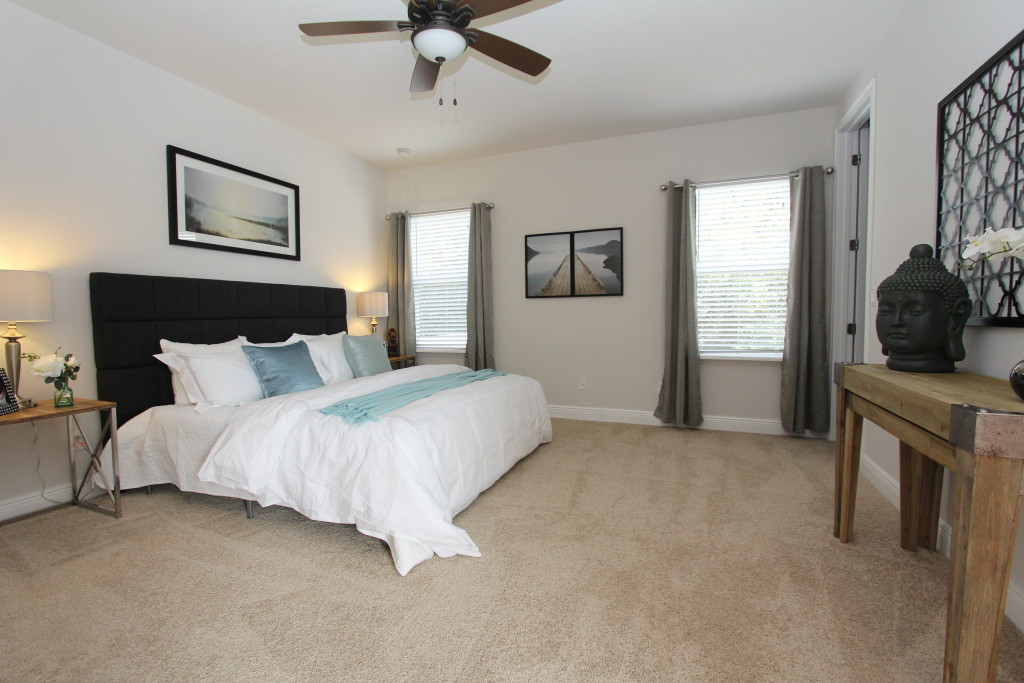 The master suite, a spacious retreat from the daily life