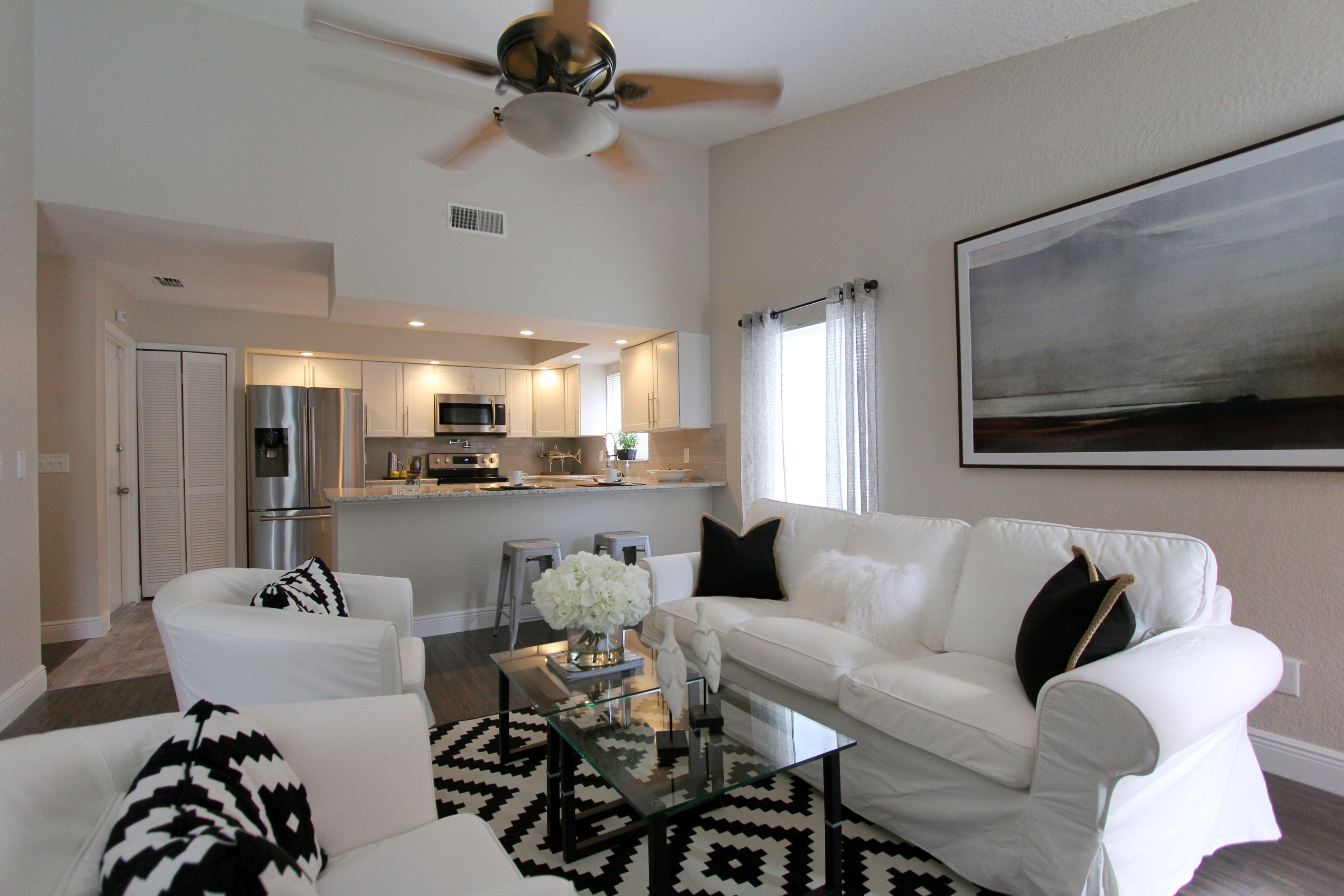 Living Room Shows Property Orlando Home Staging Services