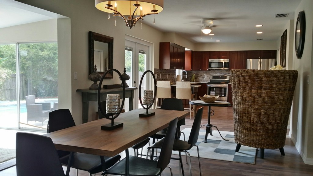 Staging of a home in an Orlando suburb