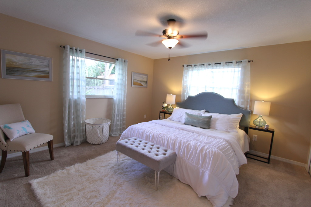 A kind size bed and still plenty of room in the master suite.