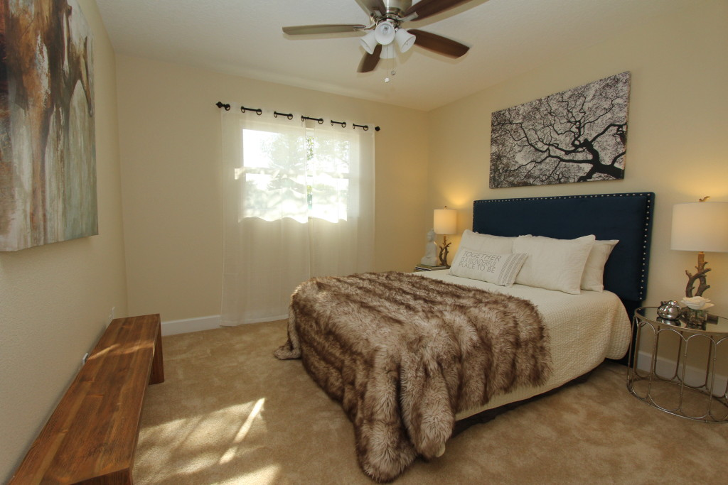 A guest bedroom makes sure the stay is an enjoyable one